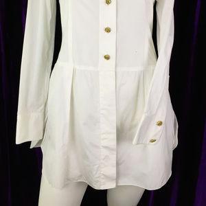 CHANEL Dresses - 36 Auth Chanel Boyfriend Shirt Dress CC Tunic